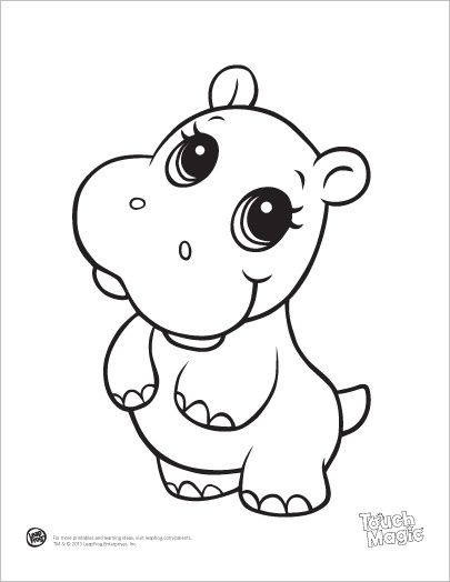 Drawn baby animal On drawings Hippo Baby Coloring