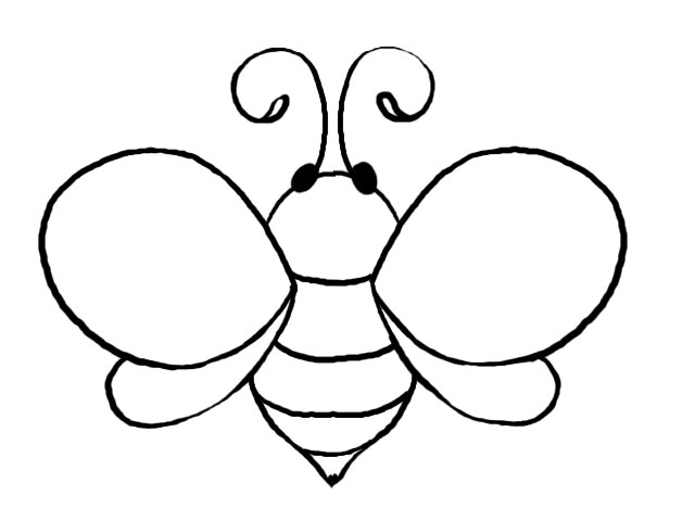 Bees clipart template Page to house: baby Bee