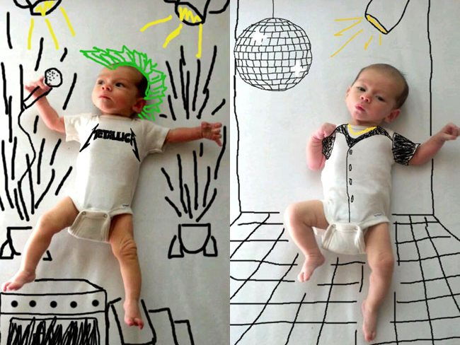 Drawn background baby photoshoot #5