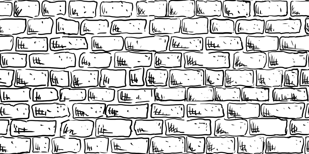 Drawn brick wall art Honours and  Level Als