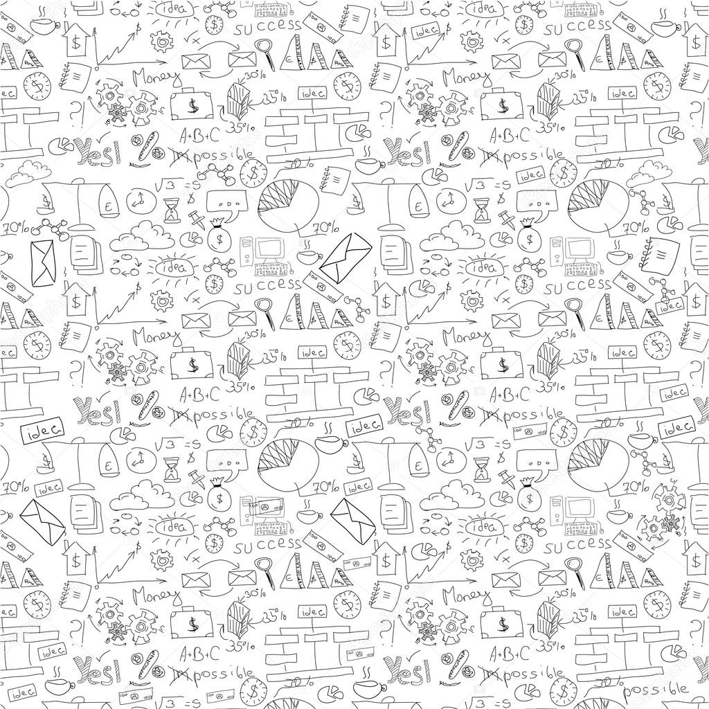 Drawn background business Hand Stock drawn — #61120891