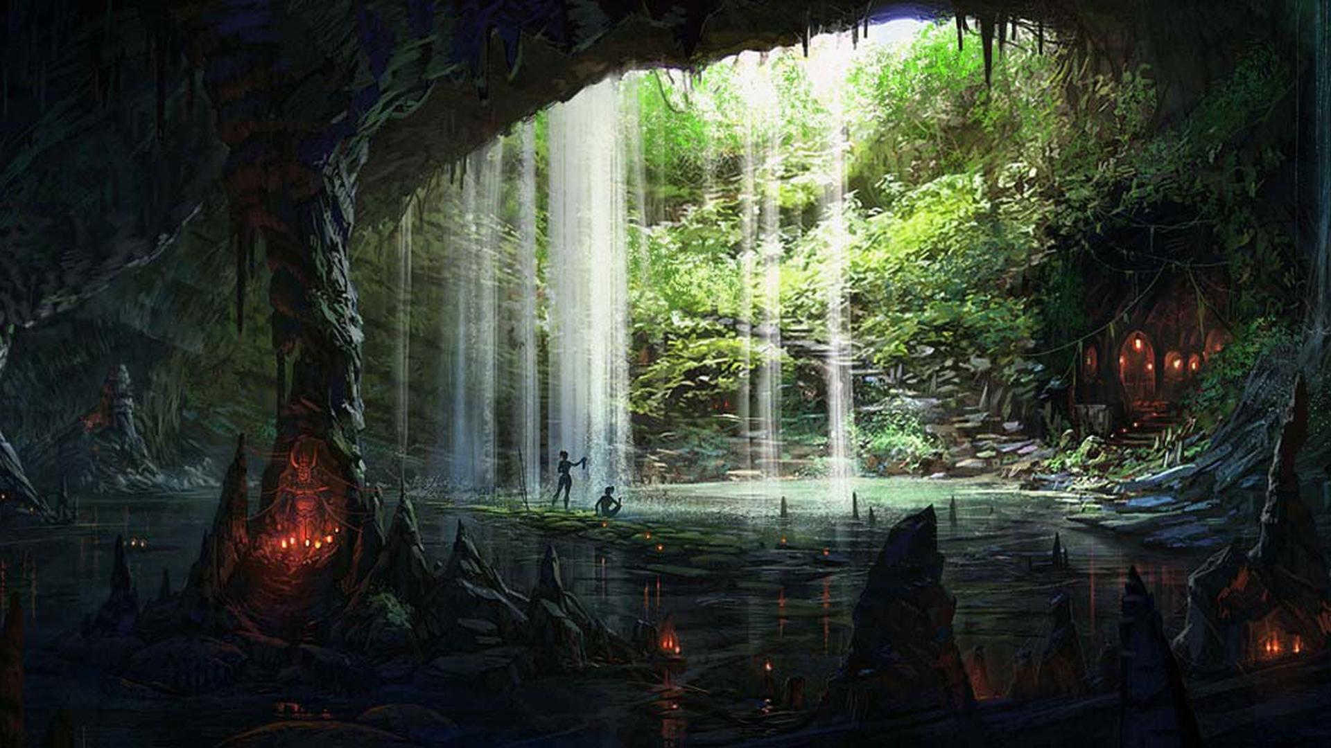Drawn background cave 1920x1080 Backgrounds Wallpaper Desktop Cave