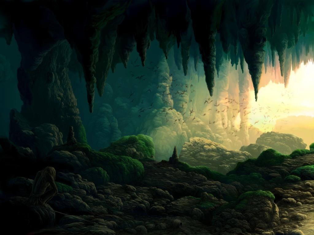 Drawn background cave WallpaperSafari desktop cave wallpaper a