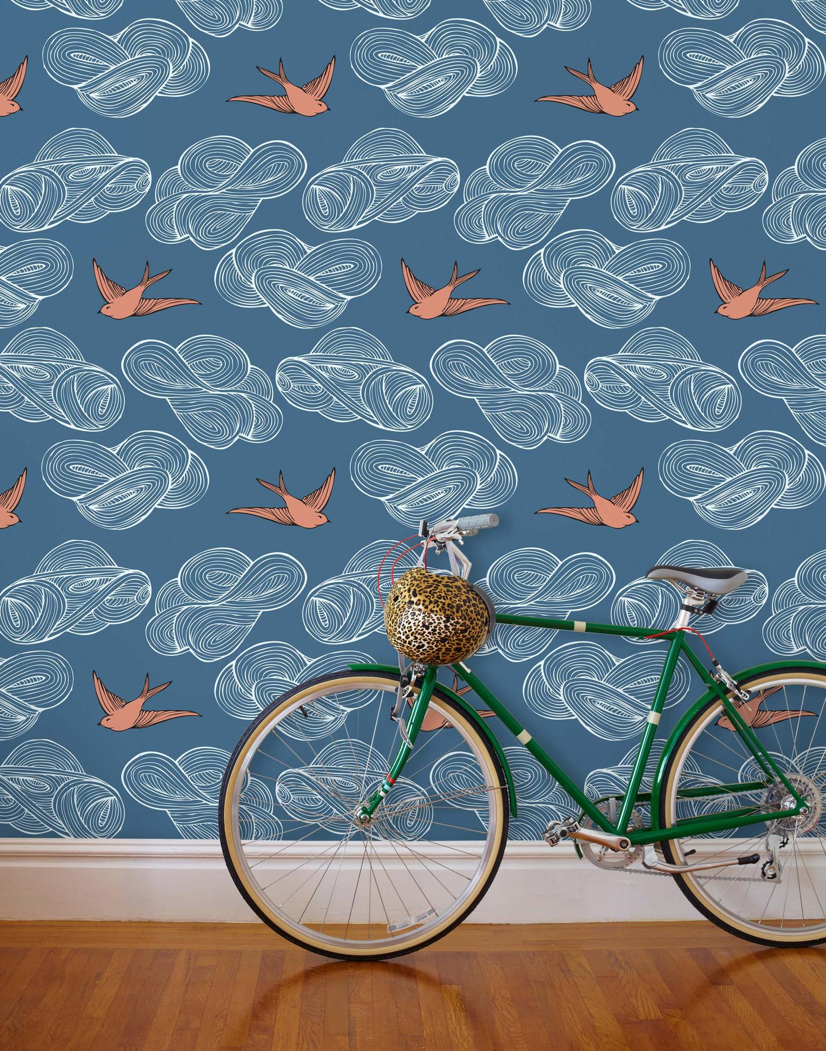 Drawn background daydream Daydream Wallpaper (Indigo) and Blue