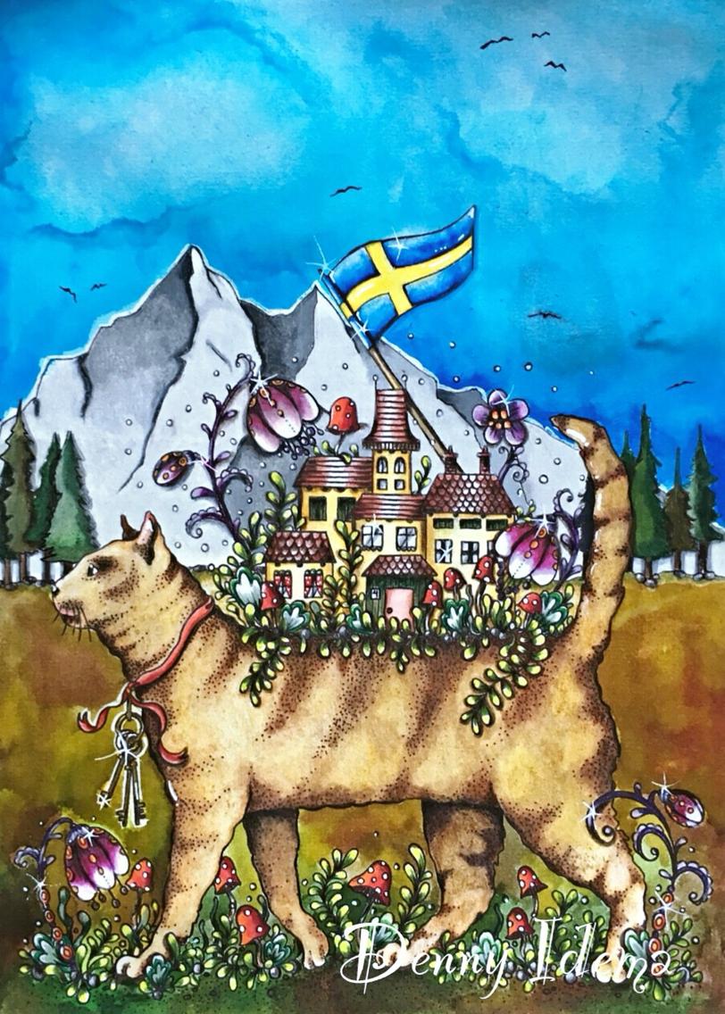 Drawn background daydream Karlzon cat Faber myself background