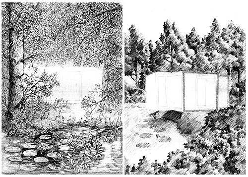 Drawn background drawing Backgrounds Art on & Perspective