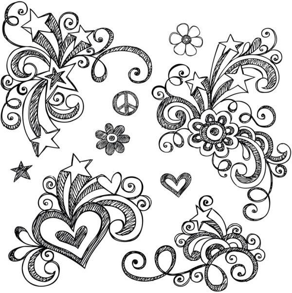 Drawn background flower designer Decoration Fx Simple Design Wallpaper