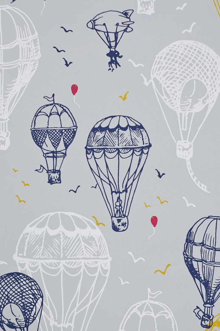 Drawn background hot air balloon #5