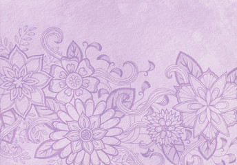 Drawn background light purple Fancy photos doodle line and