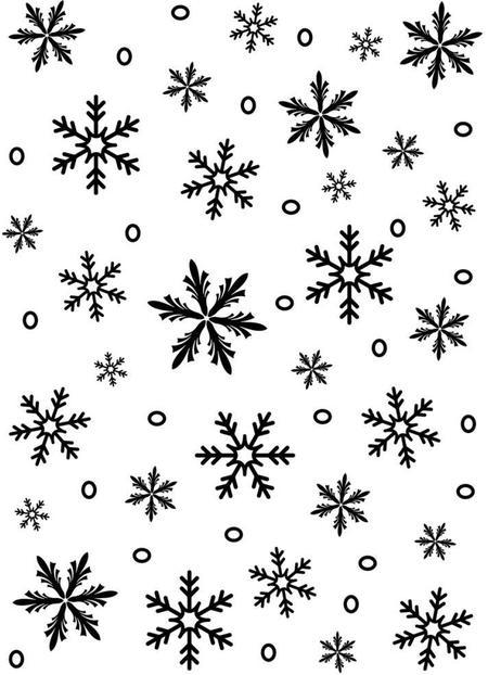 Drawn background snowflake Folder 97 Embossing com Snowflake