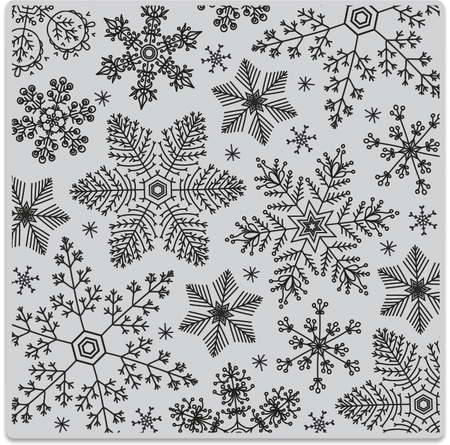 Drawn snowflake small  Rubber Drawn Hand Cling