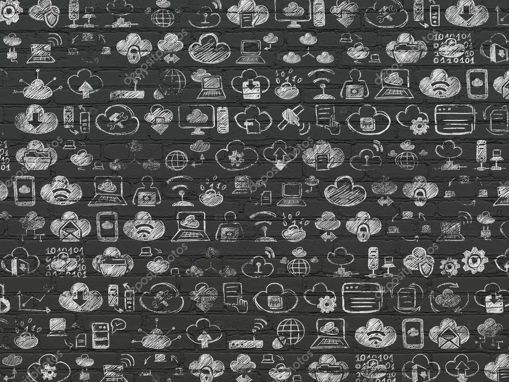 Drawn background wall texture Background: Brick Black Black Grunge