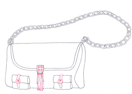 Drawn purse How How for to bag