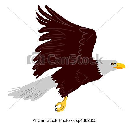 Bird clipart side view Eagle illustration bald  eagle