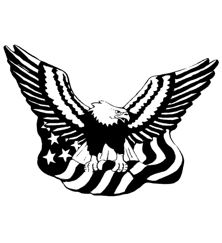 Black Eagle clipart american eagle With Eagle Bald clipart flag