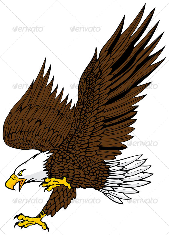 Bird Of Prey clipart soaring eagle Here symbol EPS Available →
