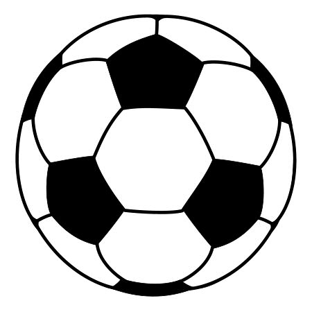 Drawn football white background A Soccer ball Cartoon Ball