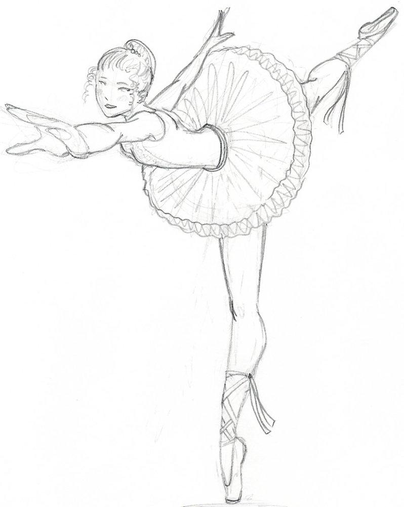 Drawn ballerina hand drawn By odduckoasis Ballerina by DeviantArt