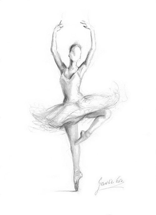 Drawn ballerine #9