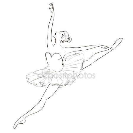 Drawn ballerine #10