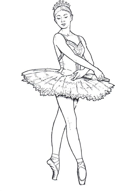 Drawn ballerina color The Help Ballet For 25+