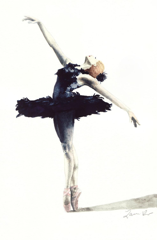 Drawn ballerina dance studio Art Painting Dancer Painting Dance