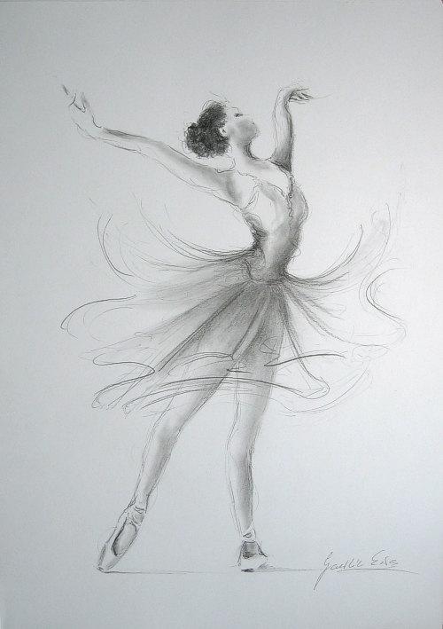 Drawn ballerina derwent inktense Drawing pencil x  on
