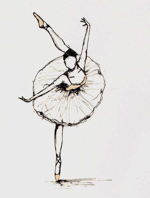 Drawn ballerina pink ballerina Dance photoshop dance ballerinas Sketch