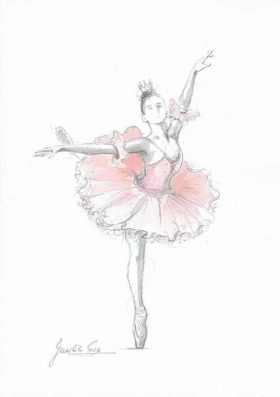Drawn ballerina pink ballerina Ballet Art Ballerina Ballerina Ballet