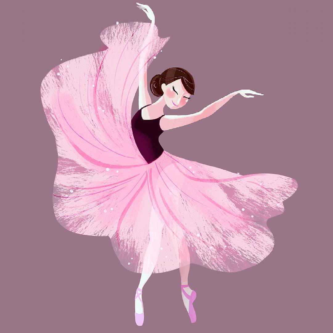 Drawn ballerina pink ballerina Instagram #illustration ballerina #ballerina #sketch