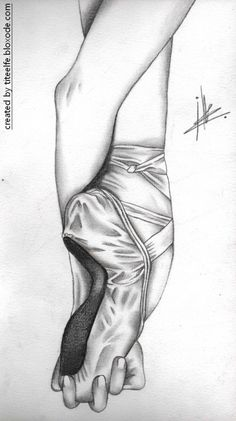 Drawn ballerina pointe shoe Arte drawings The this Pointe