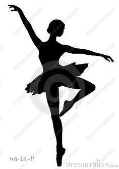 Drawn ballerina silhouette Pinterest this drawing Ballerina de