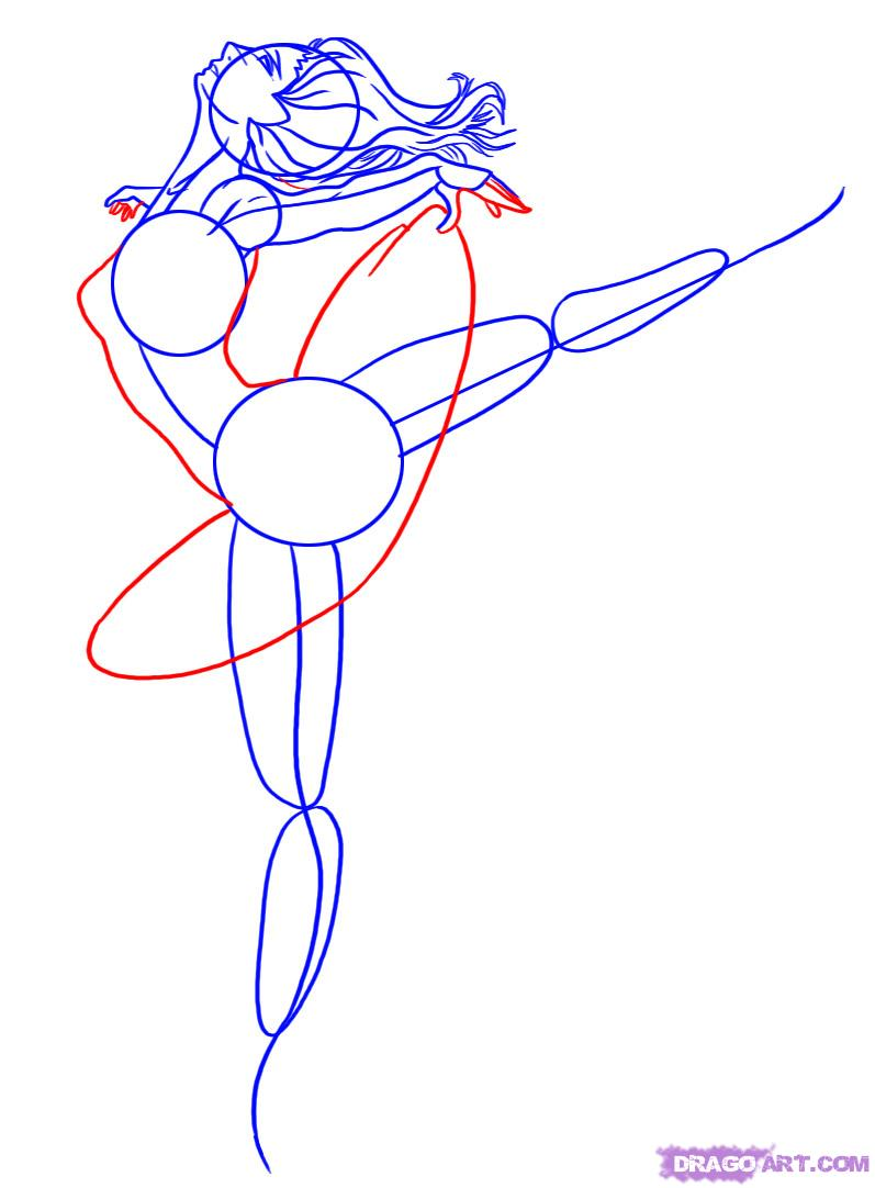 Drawn ballerine anime Figures  a FREE to