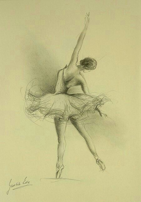 Drawn ballerine back The Back of Pinterest Ballerina