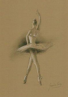 Drawn ballerine back Anastassiaorehova dancer by Sketch