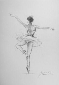 Drawn ballerine back WHITE ORIGINAL on Ballerina Gawlik