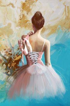 Drawn ballerine back Up Ballerina's Warm Sheet and