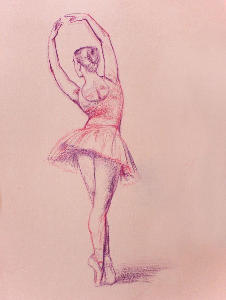 Drawn ballerine back Portrait https://flic best 19 Drawings
