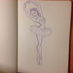 Drawn ballerine back  Ballerina and Ballerina Silhouettes