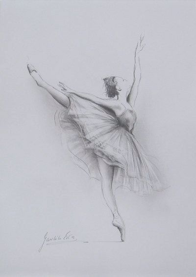 Drawn ballerine back About 5 Know painting Ballet