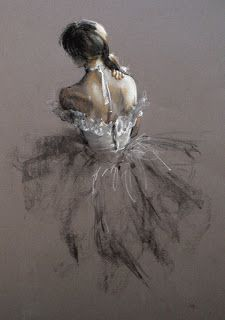 Drawn ballerine back An A by Digital not
