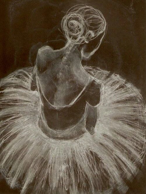 Drawn ballerine back Art  Canvas Dance images