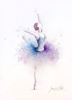 Drawn ballerine back Artwork Ballerina Ballerina 10 Painting