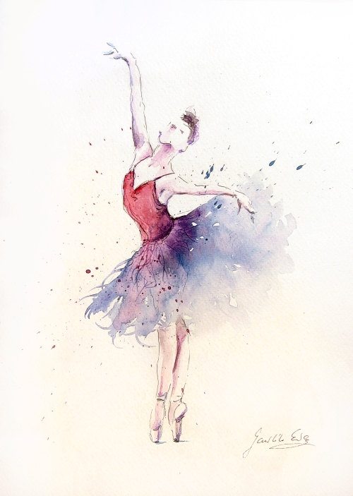 Drawn ballerine back And This drawn work This