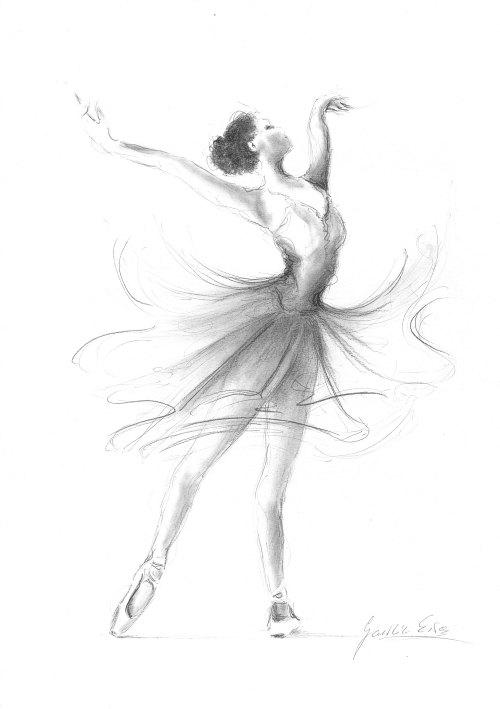 Drawn ballerine ballerina dress Print Sketch Ballerina  Picture