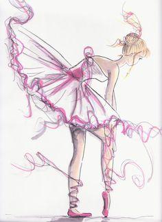 Drawn ballerine ballerina dress By I room In x