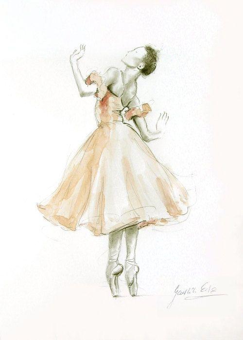 Drawn ballerine ballerina dress Rose about ballerine ballerine originale