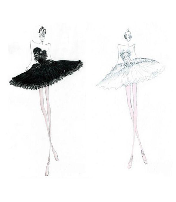 Drawn ballerine ballerina dress Swan ballet 17 black ballerina