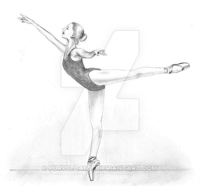 Drawn ballerina ballet arabesque Drawing My Drawing in on