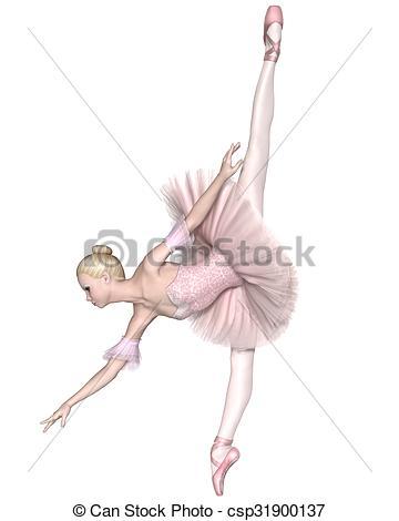 Drawn ballerina ballet arabesque Ballerina Pink Tutu of Pink